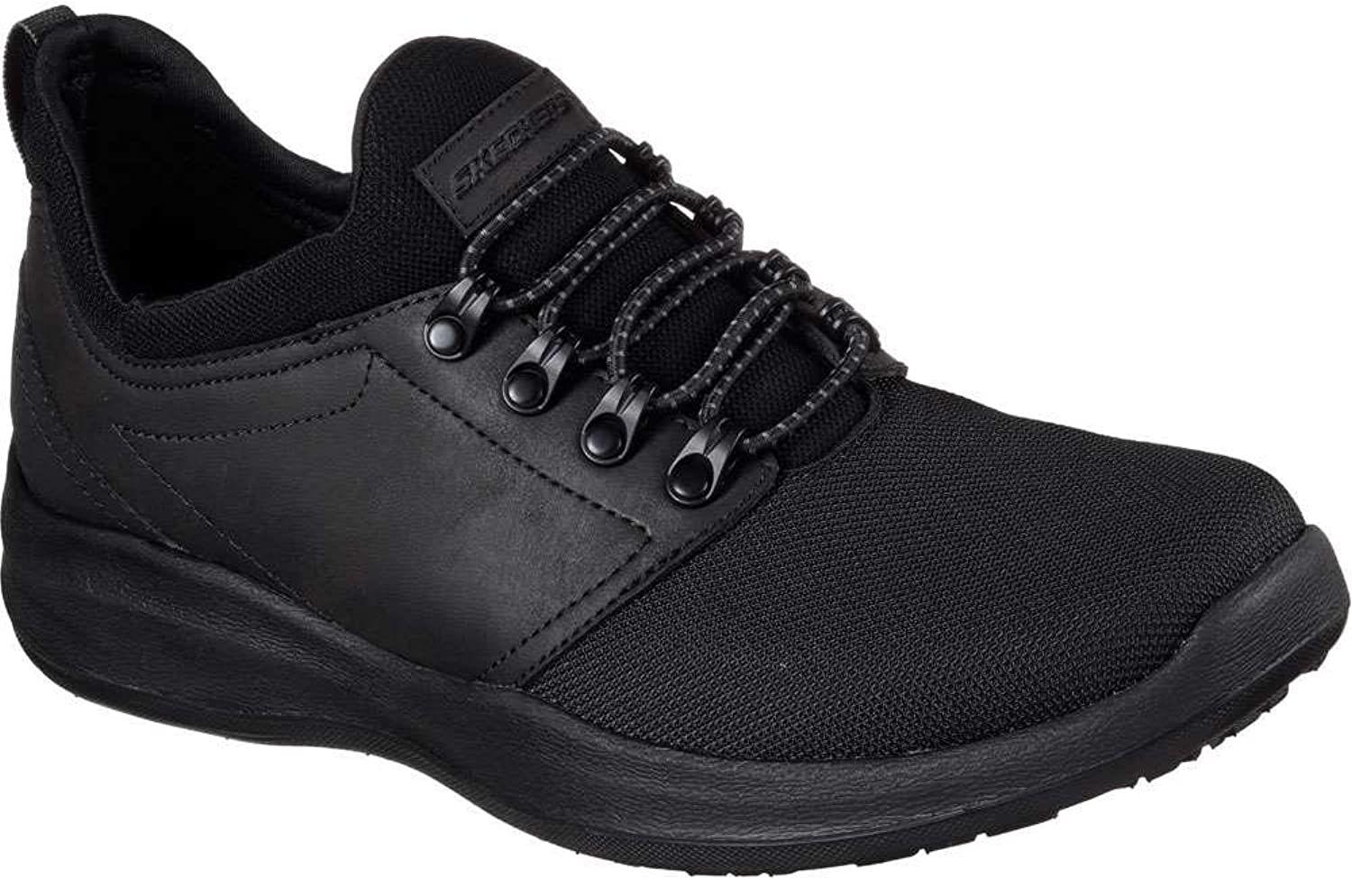 Skechers Wallen Folt Mens Slip On Sneaker Oxfords Black 13