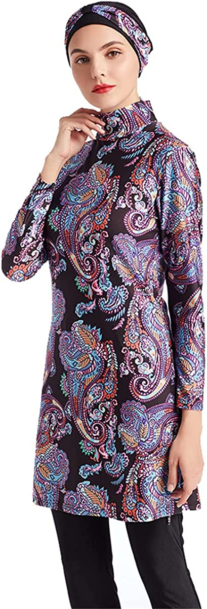 SARBUTER Muslim Swimwear for Women Modest Full Cover Swimsuit Long Sleeve Hijab Burkini