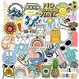 VSCO Vinyl Cute Stickers, 35 PCS Waterproof Aesthetic Stickers for Laptop, Computer, MacBook, iPad, Cellphone, Hydro Flask, Water Bottle, Luggage, Great for Kids, Teens, Girls, Women