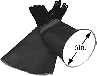 TUFF-Blast Neoprene Gloves for Sandblasting Sandblaster Sand Blast Cabinet - 6