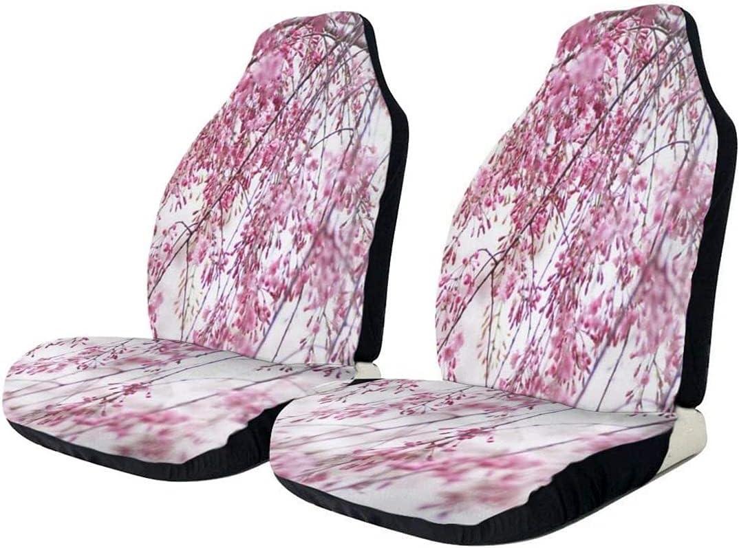 2 PCS Car Seat Sales for sale Covers Pink Washington Mall Print Auto Flower Co Plum Front
