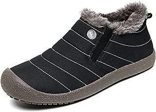 Men's Fur Lining Waterproof Thickening Low Shoes Winter Warm Snow Comfortable Booties Slip On Flats Sneakers