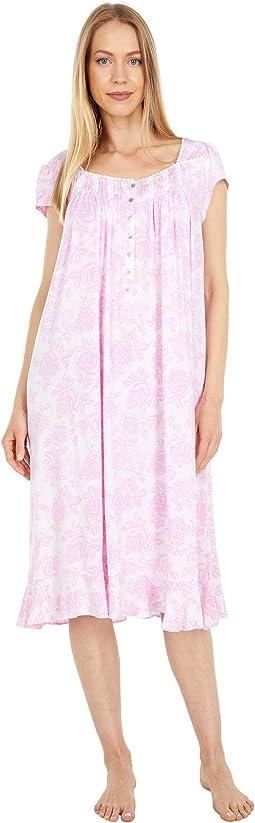 Tencel Modal Spandex Cap Sleeve Waltz Gown