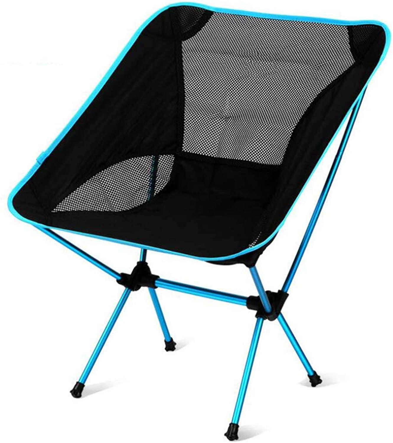 Portable Camping Chair, Aluminum Bracket Camping Recliner Fishing Barbecue Stool Backpack Stool, Quickly-Fold Chair Oxford Cloth with Carry Bag.