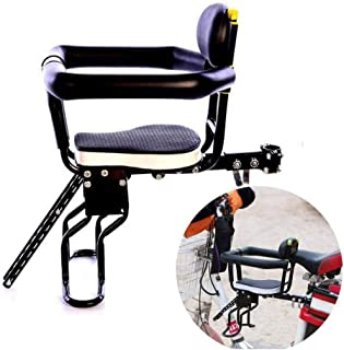 weemoment Bike Kids Seat Bike Child Front Seat with Back Rest and Foot Pedals for Children 2-8 Years The Weight-Bearing Capacity of 20kg Compatible with All Adult MTB