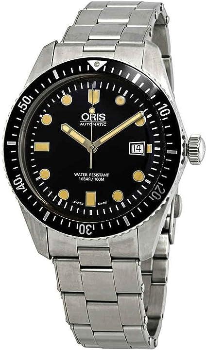 Orologio watch - oris divers sixty-five automatico quadrante nero mens watch 01 733 7720 4054-07 8 21 18