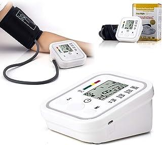 Josopa Monitor de presión Arterial Cuidado de la Salud en el hogar LCD Digital Brazo Superior Monitor de presión Arterial Medidor de latidos cardíacos Máquina tonómetro para medición automática