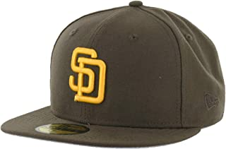 New Era 59Fifty San Diego Padres Cooperstown Fitted Hat (Brown Gold) MLB Cap 1dd54b9d537