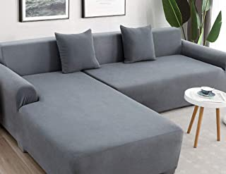 Stretch Sofa Cover,Anti-Slip Couch Cover All Inclusive Chaise Lounge L-Shaped Slipcover Washable Elastic Sofa Cover Elastic Bottom Printed Sofa Protector Sofa Slipcover 1 pcs-K-190-230cm(75-91inch)