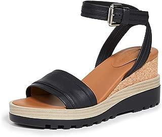 Women's Robin Wedge Sandals, Black, 7 Medium US