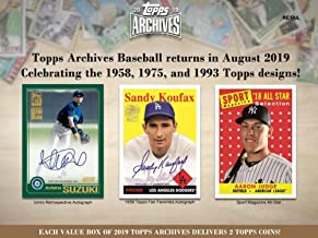2019 Topps Archives Baseball Blaster Box (8 Packs/8 Cards)