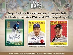 2019 Topps Archives Baseball Blaster Box (8 Packs/8 Cards)