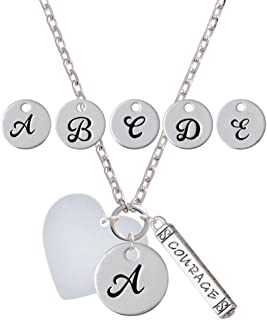 zoe pearl monogram necklace