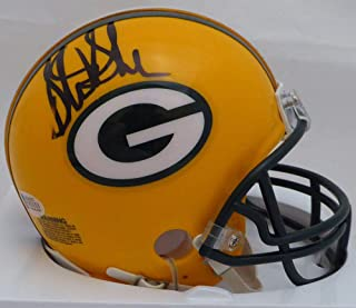 Authentic Autographed Sterling Sharpe Auto Green Bay Packers Mini Helmet (Smudged) ~ Beckett Certified