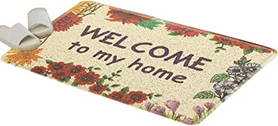 Carpet Door Mat Home Entrance Carpet Water Absorption Vacuuming Non-Slip Foot Pad Entry Door Mat Modern Minimalist Foyer Floor Mats (Color : 50 * 70CM)