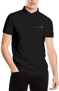 Nideming Art JPMorgan Chase Bank Logo Polo T-Shirt for Boyfriend Short Sleeve Black L
