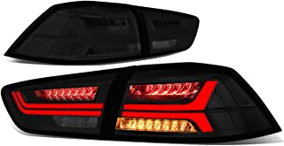 DNA Motoring TL-3D-LED-EVOX-SM Sequential LED Turn Signal Tail Light Smoked[For 08-17 Mitsubishi Evo X]