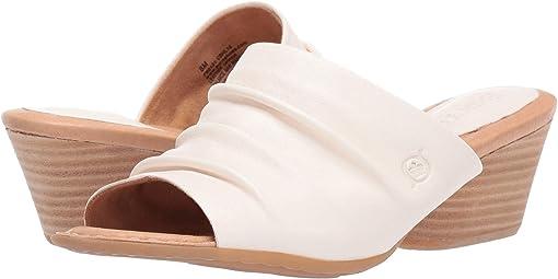 White Full Grain Leather