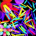 TURNMEON 300 Pcs Mini Glow Sticks Bulk 8 Colors for Glow Easter Eggs Toys, Kids Gifts Easter Basket Stuffers Glow in The Dark Easter Egg Hunt Game Party Favors Decorations Classroom Prizes Supplies
