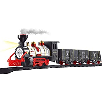 Webby Large Classic Smart Smoke Train Set Toy for Kids