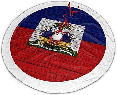 Haití Textura de Madera Marcha Bandera Falda de árbol de Navidad ...