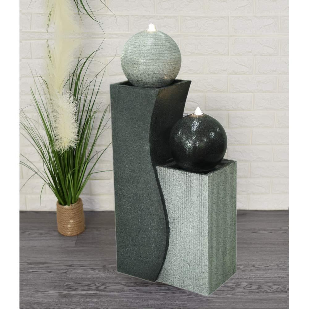 ZenLight SCFRG1958 - Fuente Grande, poliresina, Color Negro y Blanco, 42 x 24 x 94 cm: Amazon.es: Hogar