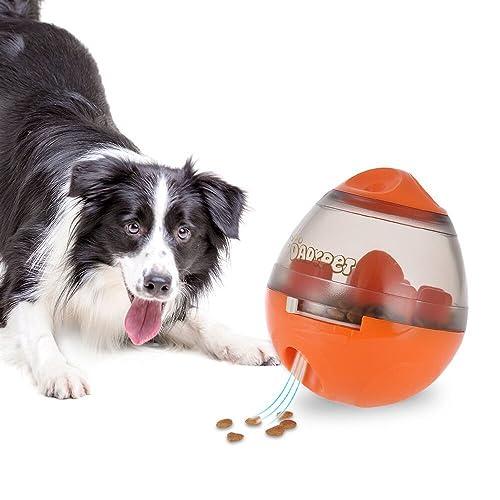 DADYPET Juguetes para Perros, Mascotas Perros Accesorios Pelota Dispensadora de Comida Fácil de Limpiar (