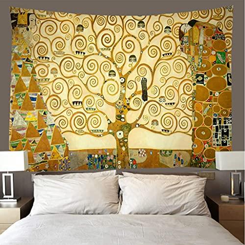 biejuyige Tapiz Colgante De Pared Vintage Golden Tree Beach Throw Room Decor Hippie Paño De Pared Picnic Hoja Mantel C141 150X200Cm