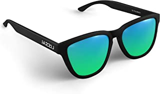 JAZZU - Gafas de Sol Polarizadas Unisex Deportivas Cuadradas, Efecto Espejo y Protección UV400 - Hombre y Mujer