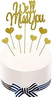 We'll Miss You Cake Topper for Retirement,Graduation,Going Away Party Cake Decorations Supply
