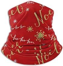 TTYIY Neck Gaiter, Wintergezichtsmasker, Oorwarmer Hoofdband, Kerstmis En Nieuwjaar Digitaal Papier, Hoofddeksels Voor Win...