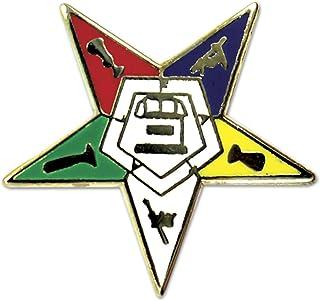 "Order of The Eastern Star Masonic Lapel Pin - [3/4"" Tall]"