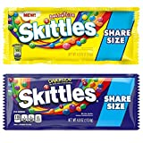 Skittles Brightside and Darkside Candies Share Size 4 oz Packs. One Skittles Brightside 4 oz and One Skittles Darkside 4 oz