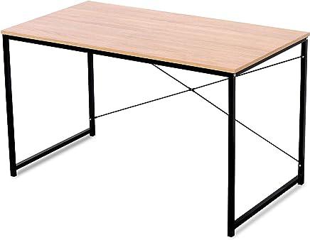 WOLTU TSB04hei Bureau d'ordinateur Table de Bureau pour Travailler Fait de Bois et Acier,Environ 120x60x70cm,Nature