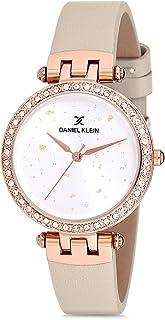 Daniel Klein Womens Quartz Watch, Analog Display and Leather Strap DK12199-4