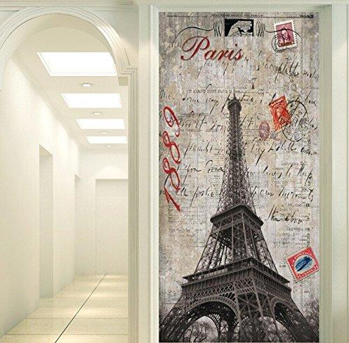 Yosot Papel pintado 3D Personalizadas Estilo Europeo Francia Paris Nostálgico Torre Para El Salón Dormitorio Tv Papel pintado-400Cmx280Cm