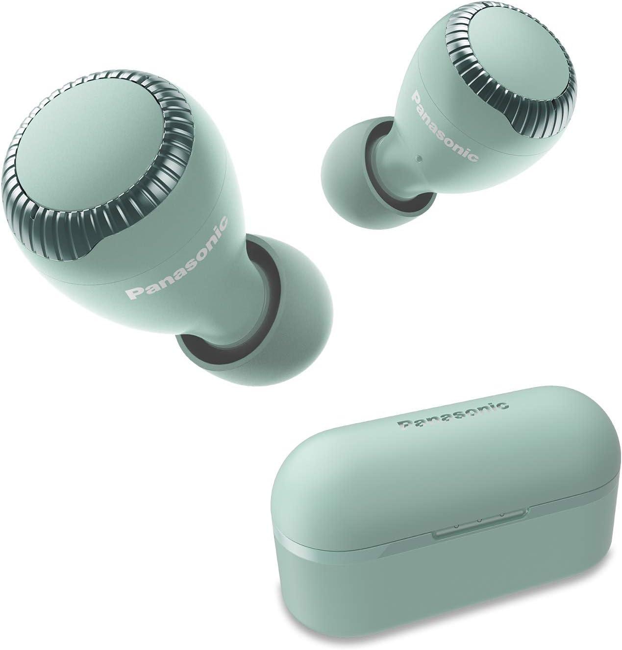 Panasonic True Wireless Earbuds | Bluetooth Earbuds|IPX4 Water Resistant | Small, Lightweight | Long Battery Life, Alexa Compatible | RZ-S300W (Green)