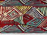 - Tessuto colorato in cotone-viscosa, a rombi, larghezza 143 cm