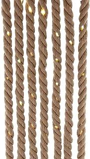 Kurt S. Adler 30 118-Inch Battery-Operated Natural Brown Rope Warm White Super Bright LED Bulbs Novelty Light Set, Multi