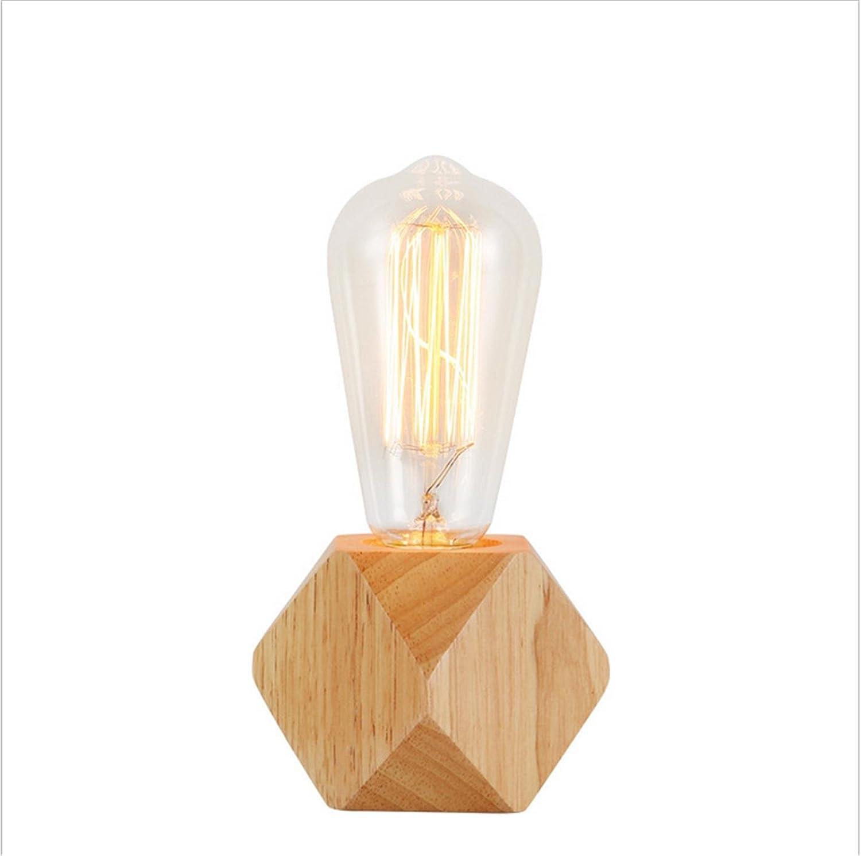 ZHIYUAN Rohes Holz Tischlampe Kreative Mode Schlafzimmer Nachttischlampe Verstellbare Leuchte einfache Holz Warm Studie Tischlampe (es liegen keine Artikel Glühlampe) Geben B072KN7QQL | Zuverlässiger Ruf