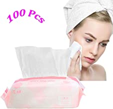 Dry Baby Wipes, Large Size Facial Cotton Tissue, 100% Soft Cotton Pads, Disposable face Towel for Sensitive Skin, Dry and Wet Use Cotton Wipes(1 Pack 100 Count)