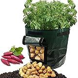 ASOON 2-Pack 7 Gallon Garden Potato Grow Bag Vegetables Planter Bags with Handles and Access Flap for Potato, Carrot & Onion
