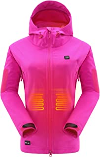 Heated Jacket with 7.4V Battery Pack Winter Outdoor Soft...