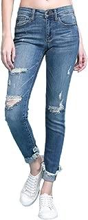 Judy Blue Cuffed Destroyed Hem Skinny Jeans (Style: 82366)