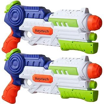 heytech 2 Pack Super Water Gun Water Blaster 1200CC High Capacity Water Soaker Blaster Squirt Toy Swimming Pool Beach Sand Water Fighting Toy