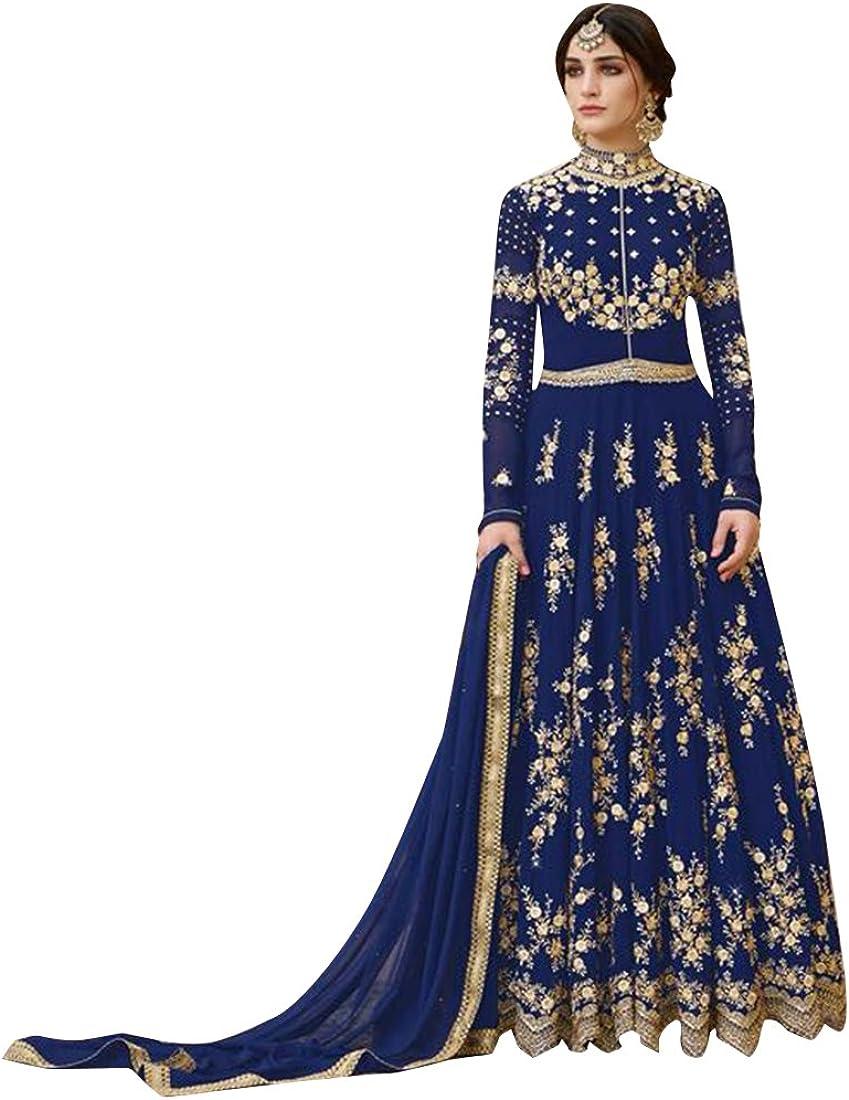 Bollywood Wedding Ceremony Heavy Bridal Anarkali Salwar Kameez Muslim Suit Gown Dress Ethnic 753