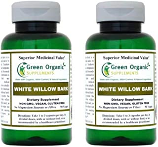 (Pack-2) Green Organic Supplements' White Willow Bark (Pack of 2)