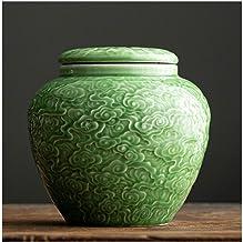 Cremation urn Elite Cloud Blue Urn for Human Ashes - Ceramics Funeral Urn Handcrafted - Very Nice Craftsmanship - Large Ur...
