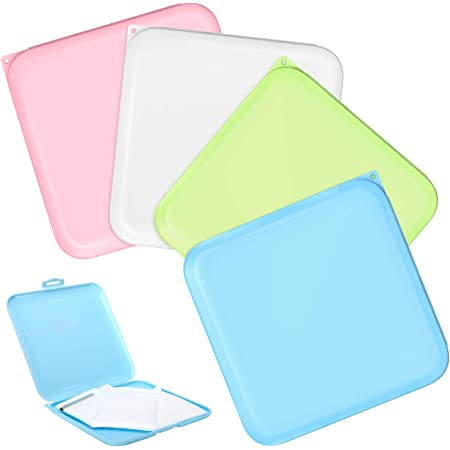 UK/_ FACE MASK STORAGE CASE WITH MIRROR MASK COVER HOLDER CONTAINER PROTECTION
