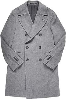 [54] [TAGLIATORE] タリアトーレ コート メンズ 秋冬 グレー 灰色 カシミヤ100% CSBLM0B 大きいサイズ [18809gy] [並行輸入品]